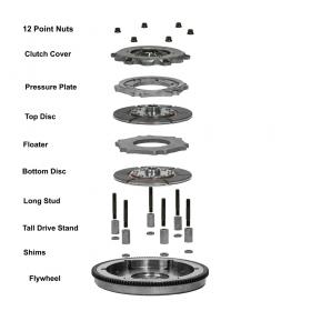 Rev-6, Dual Disc Clutch System Parts List