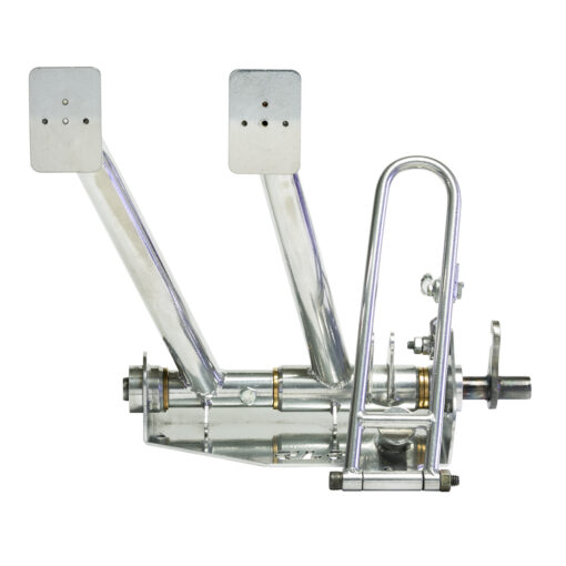 "RLR Chromoly Pan Pedal Assembly ( pedals shown are ""ceramic"" coated, we optionally offer ""powder"" coating only )"