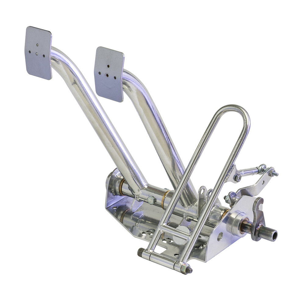 """RLR Chromoly Pan Pedal Assembly ( pedals shown are """"ceramic"""" coated, we optionally offer """"powder"""" coating only )"""