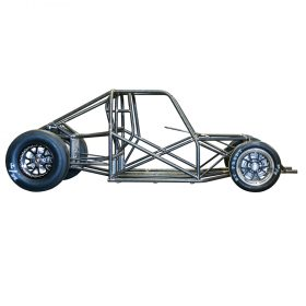 4130 Chromoly Squareback Chassis (shown w optional funny car cage)